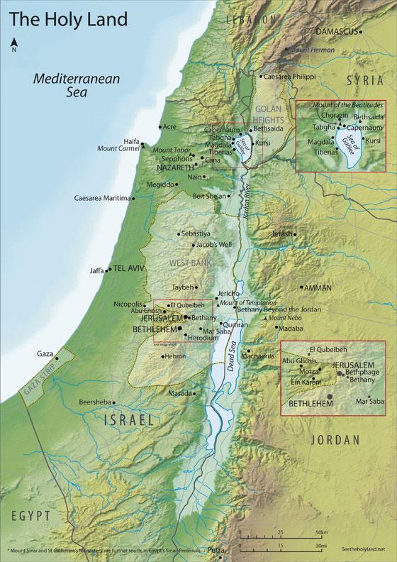 Ziemia Swieta Mapa Ziemi Swietej Izrael